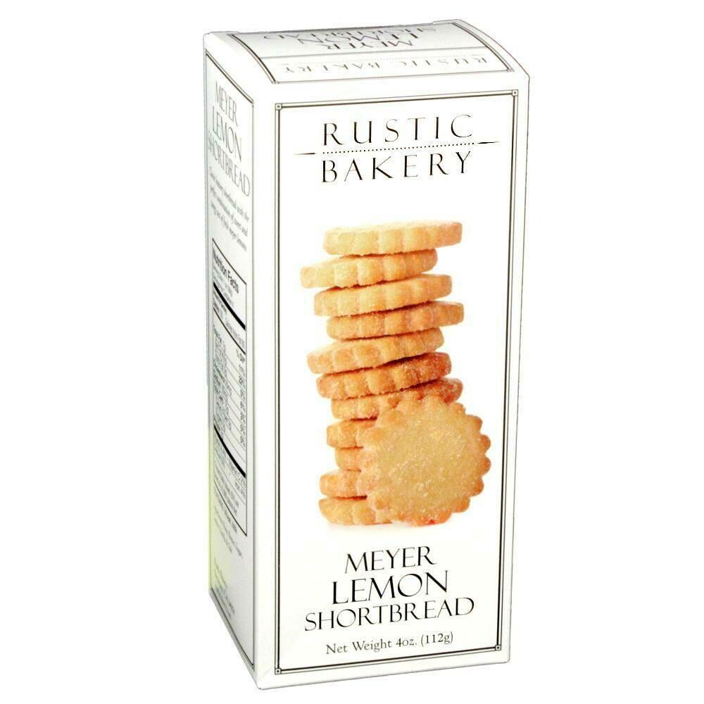 Rustic Bakery Meyer Lemon Shortbread Cookies, 4 oz. box