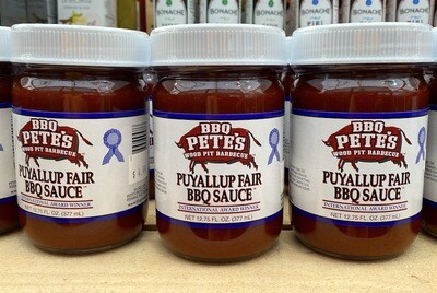 LOCAL! BBQ Pete's Puyallup State Fair BBQ Sauce 12.75 oz.