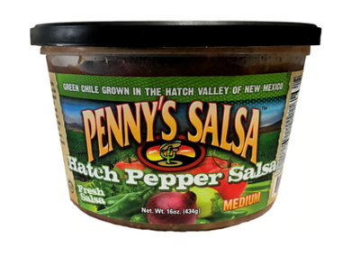 Penny's Hatch Pepper Salsa, MEDIUM HEAT 16 oz.