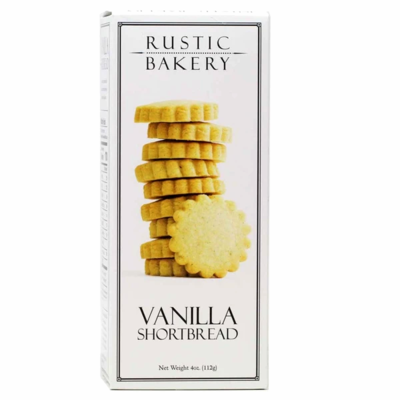 Rustic Bakery Vanilla Shortbread Cookies 4 oz. box