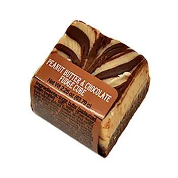 Spokandy Peanut Butter Chocolate FUDGE Cube 2.25 oz.