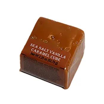 Spokandy Sea Salt Vanilla Caramel Cube 2.25 oz.
