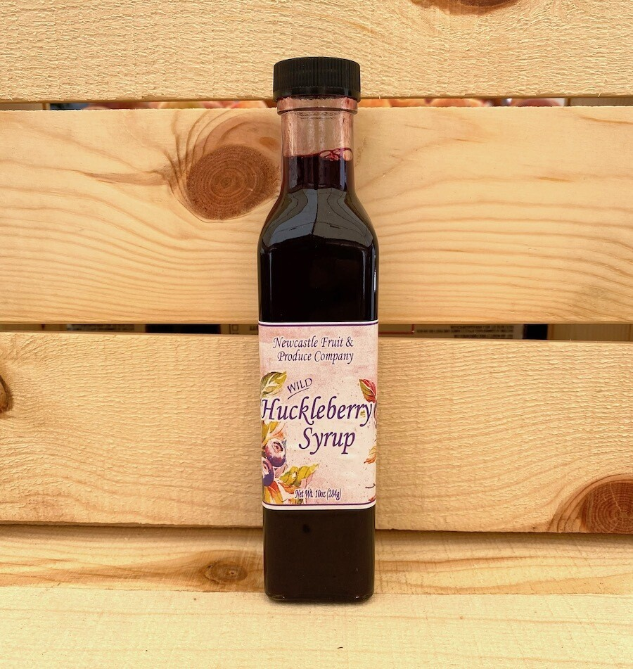 Newcastle Fruit & Produce Co. Huckleberry Syrup 10 oz.