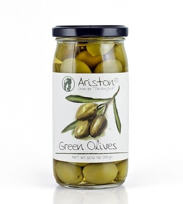 Ariston Greece Green Olives 12.67 oz.