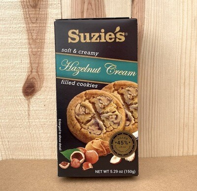 STAFF PICK! Suzie's Hazelnut Cream Cookies 5.3 oz. box