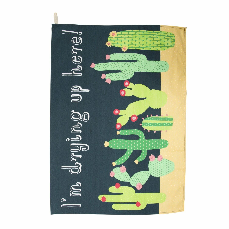 Colourful Cactus Tea Towel