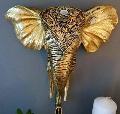Decorative Gold Elephant Bust