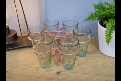 Antique Copper Glass Set