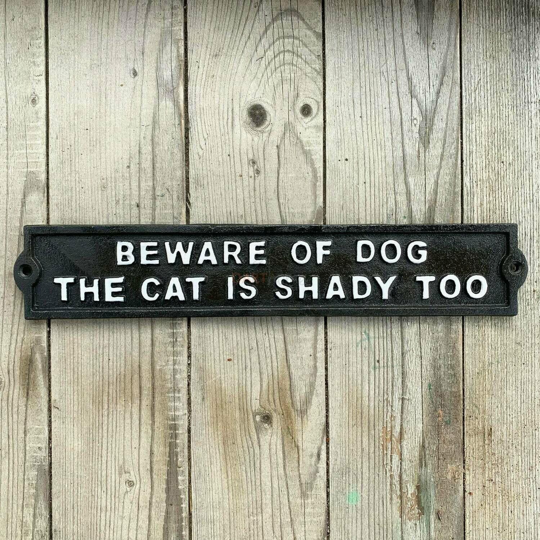 Shady Cat Sign