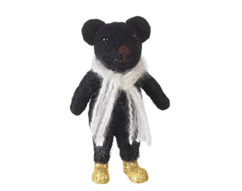 Black Felt Bear