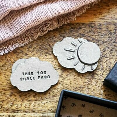 'This Too Shall Pass' Pocket Cloud