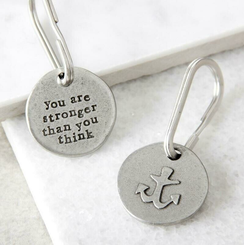 'You Are Stronger Than You Think' Anchor Keyring