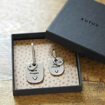 'Best Friend' Keyring & Collar Charm Set