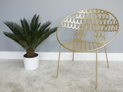 Gold Retro Metal Chair