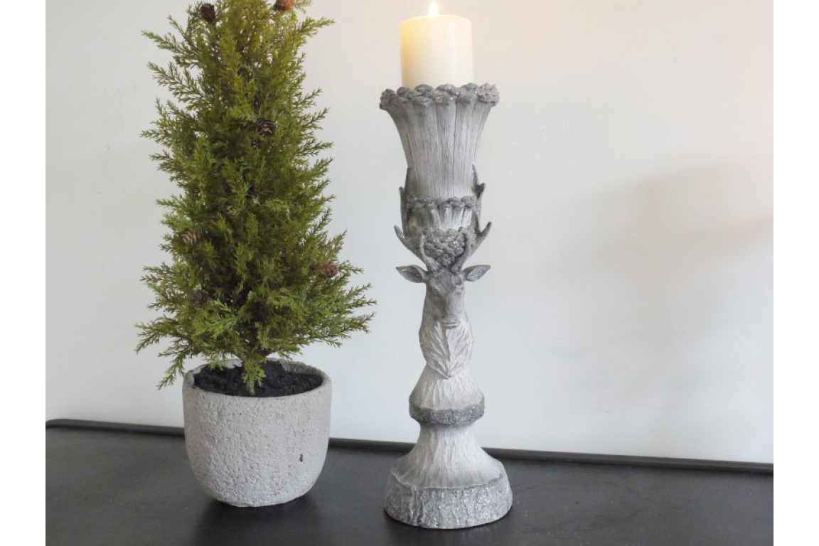 Nordic Rustic Stag Candle Holder (L)