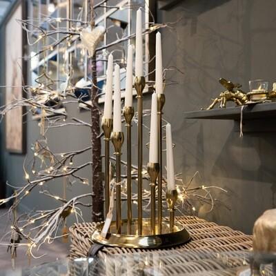 Brass Circular Multi Candle Holder