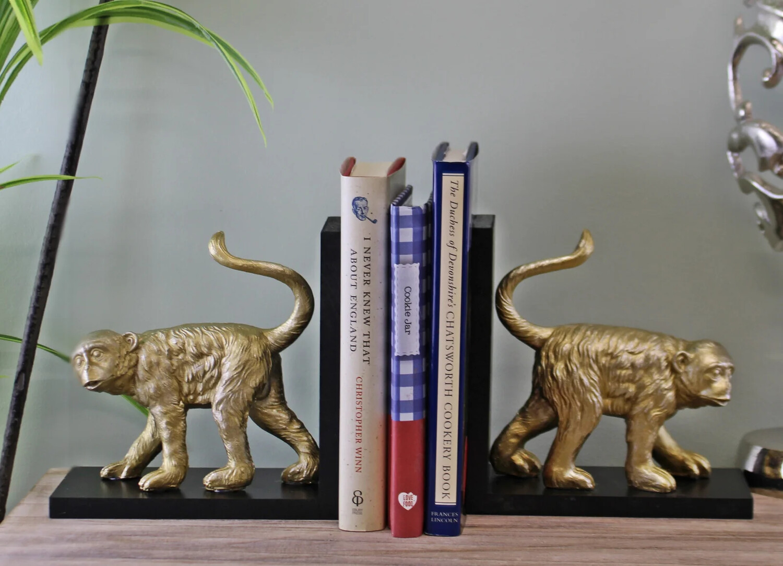 Golden Monkey Bookends