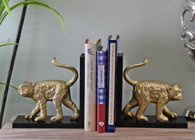 Golden Monkey Bookends