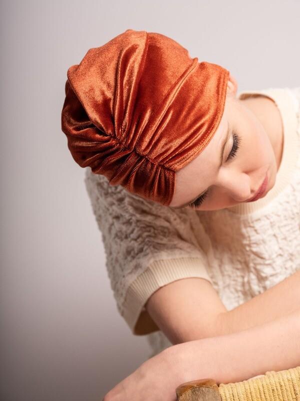 Lovely Louisa Velvet Rust