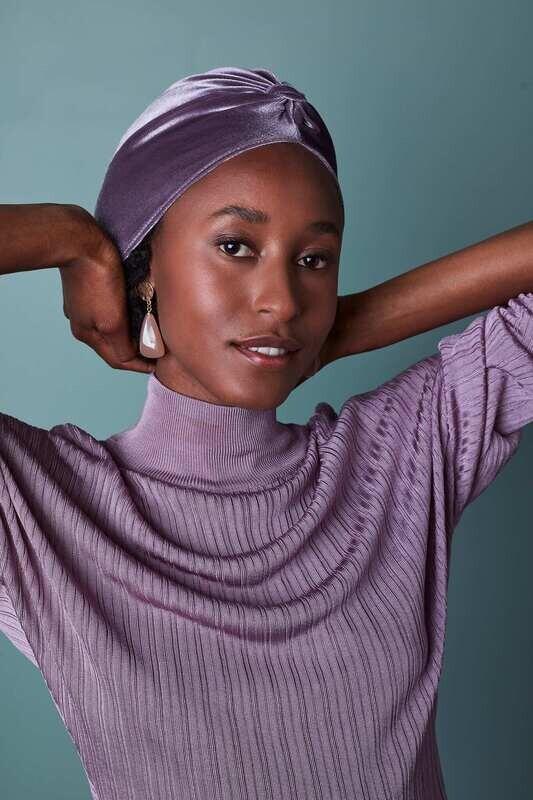 Lovely Louisa Velvet Purple