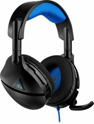 Turtle Beach - Stealth 300 Wired Amplified Stereo Gaming Headset for PlayStation 4 - Black/Blue - TB300PS-0MD