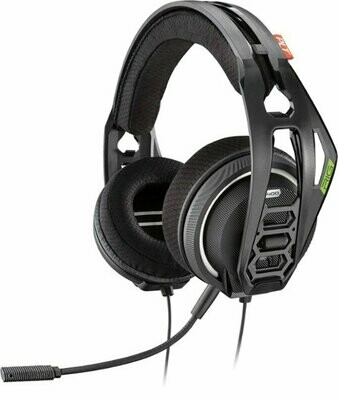 Plantronics - RIG 400HX with Dolby Atmos Wired Stereo Gaming Headset for Xbox One - Black - PT4XB0-1WD