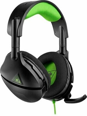 Turtle Beach - Stealth 300 Wired Amplified Stereo Gaming Headset for Xbox One - Black/Green - TB300WXB-0