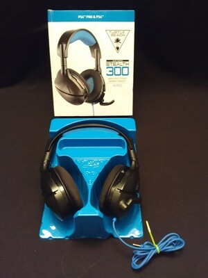Turtle Beach - Stealth 300 Wired Amplified Stereo Gaming Headset for PlayStation 4 - Black/Blue - TB300PS-1WD