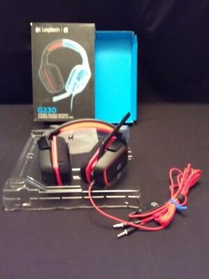 Logitech - G230 Over-the-Ear Gaming Headset - Black/Red - LTG230-0