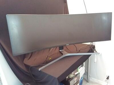 "Samsung - 49"" CHG90 QLED Gaming Monitor - SAM49Q-0"