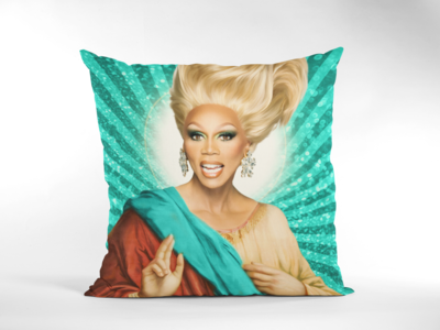 RU PAUL CUSHION