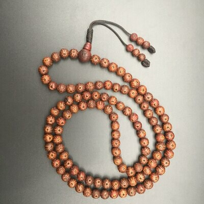 Raktu Seeds Mala 108 Beads - 3 Eyes