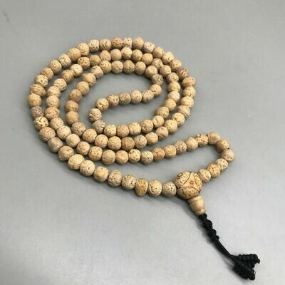 Indian Bodhi Seeds Prayer Mala 108 Beads