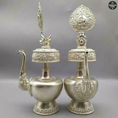 Bhumpas  - the Ritual Vase, Silver Set
