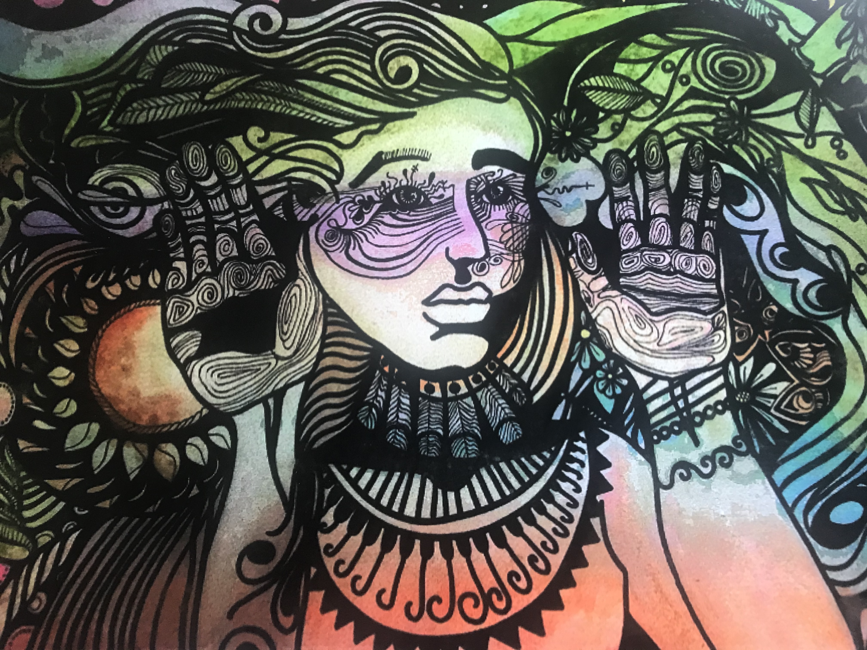 Girl in the Wind 8x10