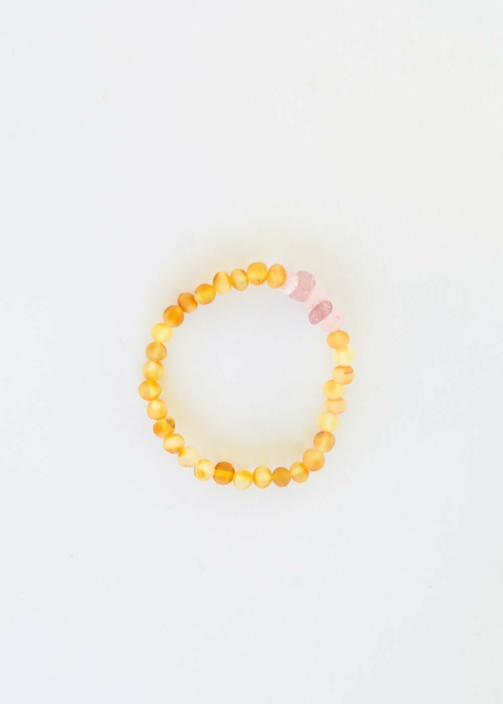 "CanyonLeaf - Adult: Raw Baltic Amber + Lapis Bracelet 7"" $28"