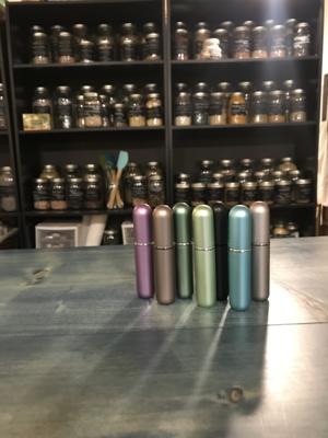 Essential Oil Inhalers, metal & glass