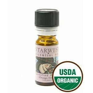Orange Sweet Essential Oil 1/3 oz. organic