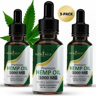 Premium Hemp Oil 1000mg 1oz