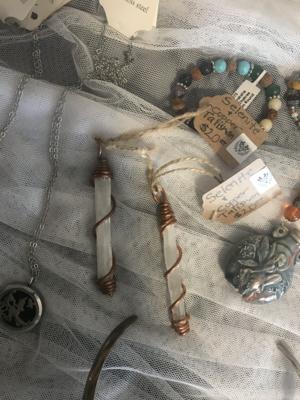 Selenite & Copper Talisman