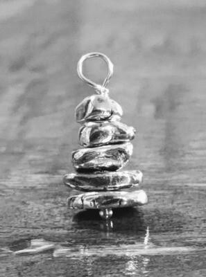 Zen Cairn (Rock Stack) Pendant by Seaside Silver