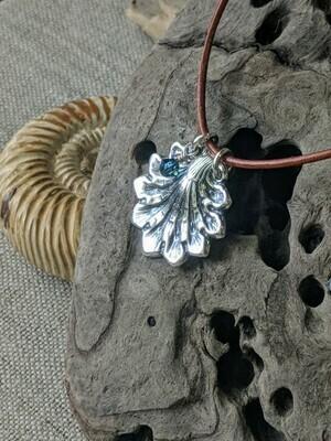 Mermaid Shell Pendant by Seaside Silver