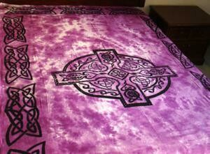 Celtic Cross Tapestry, purple