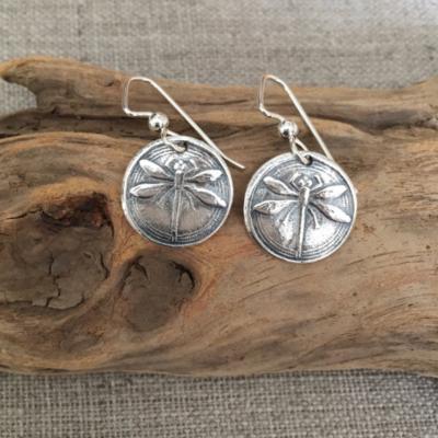 Dragonfly Earrings by Seaside Silver
