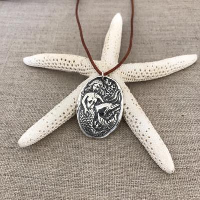 Mermaid Pendant by Seaside Silver