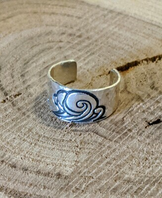 Wave Toe Ring by Seaside Silver