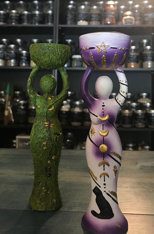 Goddess Tea Light Holder - Moon