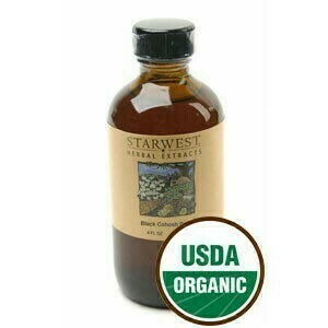 Organic Black Cohosh Root Extract 1 oz.