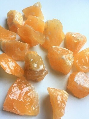 Orange Calcite Rough Stone sm