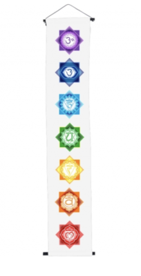 Chakras Banner, cotton